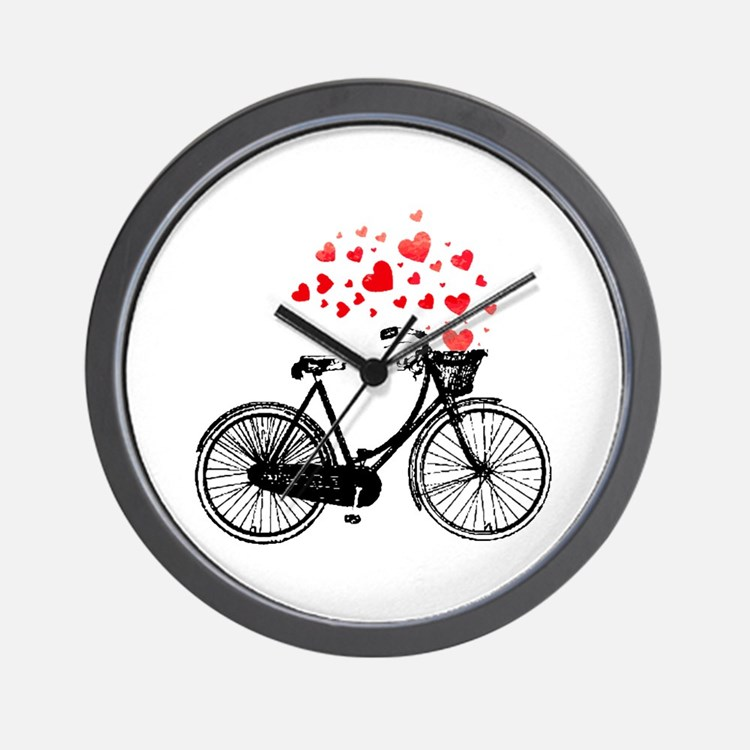 Bike Design Wall Clock : Bike clocks wall large modern kitchen