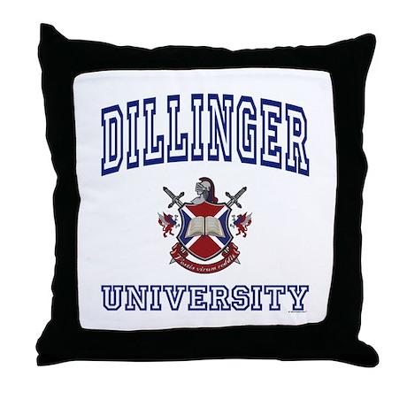 DILLINGER University Throw Pillow