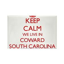 Keep calm we live in Coward South Carolina Magnets