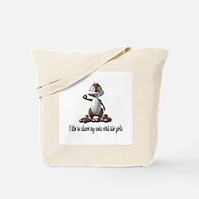 Squirrel Humor Tote Bag
