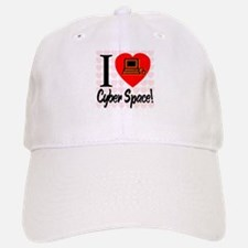 I Love Cyber Space Baseball Baseball Cap