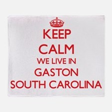 Keep calm we live in Gaston South Ca Throw Blanket