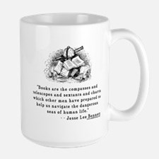 Books are the compasses<br> Large Mug