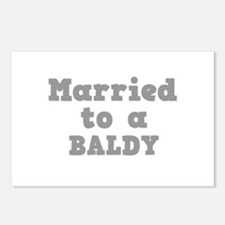 Married to a Baldy Postcards (Package of 8)