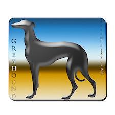 Silver Greyhound Mousepad