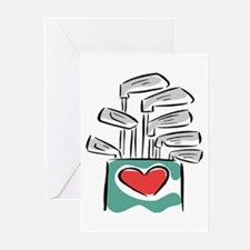 Golf Clubs Greeting Cards (Pk of 10)
