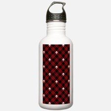 skull-plaid-red_sb.png Water Bottle