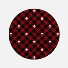 "skull-plaid-red_sb.png 3.5"" Button"