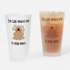 18 dog years 5 Drinking Glass