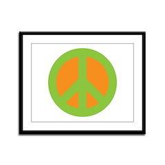 Peace Sign Framed Panel Print