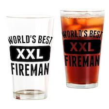 Worlds Best Fireman Drinking Glass