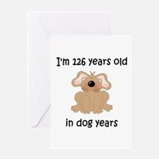 18 dog years 5 - 2 Greeting Cards
