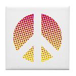 Halftone peace sign Tile Coaster