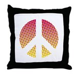 Halftone peace sign Throw Pillow