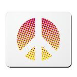 Halftone peace sign Mousepad