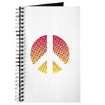 Halftone peace sign Journal