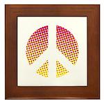 Halftone peace sign Framed Tile