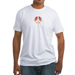 Halftone peace sign Fitted T-Shirt
