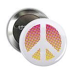 Halftone peace sign Button