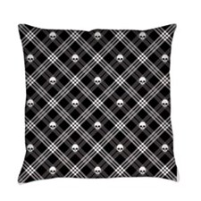 Gothic Skull Plaid Master Pillow