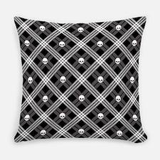 Gothic Skull Plaid Master Pillow