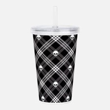 Gothic Skull Plaid Acrylic Double-wall Tumbler