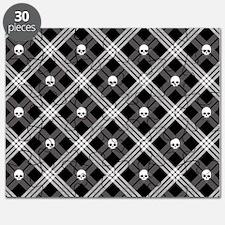 Gothic Skull Plaid Puzzle