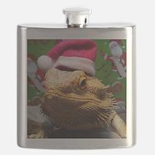 Beardie Santa Hat Flask
