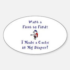FTF Diaper Cache Oval Decal