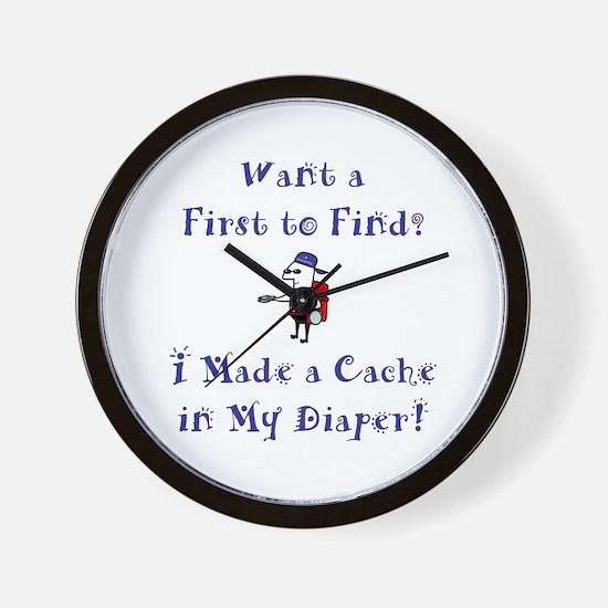 FTF Diaper Cache Wall Clock
