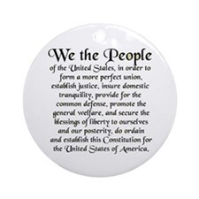 We the People US Ornament (Round)