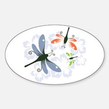 Dragonfly Oval Decal