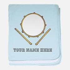 Custom Drum baby blanket