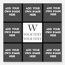 "Custom Photo Collage Square Car Magnet 3"" x 3"""