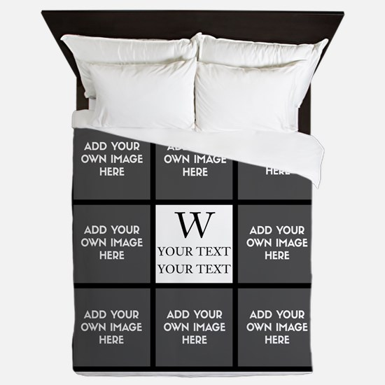 Custom Photo Collage Queen Duvet