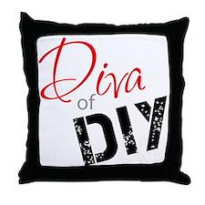 Diva of DIY Logo Throw Pillow