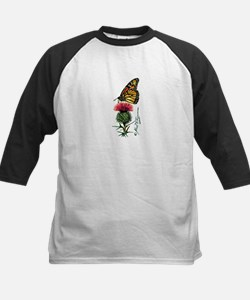 Monarch Butterfly and Thistle Baseball Jersey