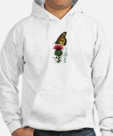 Monarch Butterfly and Thistle Hoodie