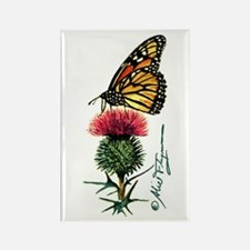 Monarch Butterfly and Thistle Magnets