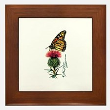 Monarch Butterfly and Thistle Framed Tile