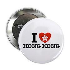 I Love Hong Kong Button