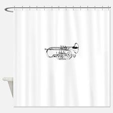 Baritone Horn Shower Curtain