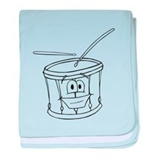 Cartoon Drum baby blanket