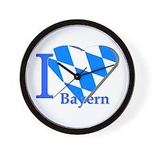 I love Bayern Wall Clock