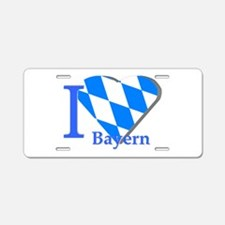 I love Bayern Aluminum License Plate