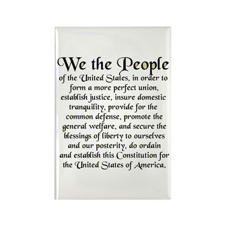 We the People US Rectangle Magnet (100 pack)