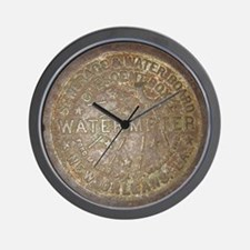 Old New Orleans Meter Lid Wall Clock