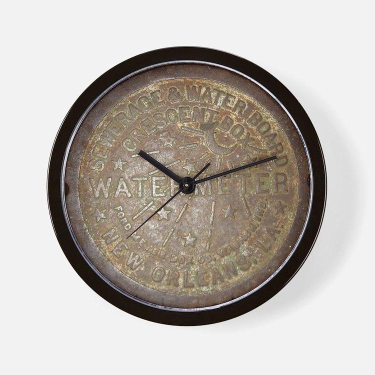 Old New Orleans Meter Lid Wall Clock