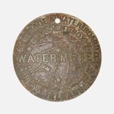 Old New Orleans Meter Lid Ornament (Round)