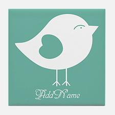 Cute Bird Cartoon Pesonalized Tile Coaster